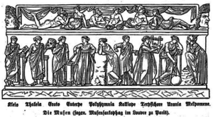 Engraving of Muses