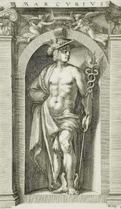 Engraving of Mercury