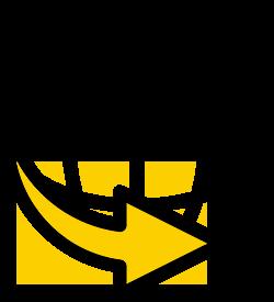 Globe with an arrow