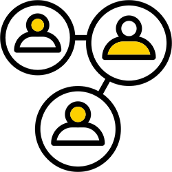 three people icons